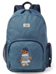 Ralph Lauren Polo Bear Chambray USA America Flag Backpack Shoulder Messenger Bag