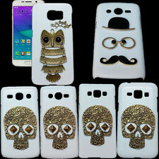 Retro Skull Owl Mustache Eye Lips Cross Stand Back Hard Case Cover For Samsung