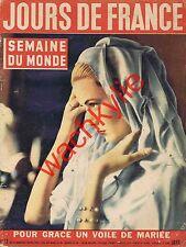 Jours de France n°72 du 31/03/1956 Grace de Monaco Algérie Espagne