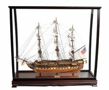 "USS Constitution Old Ironsides Tall Ship 29"" Wood Model With Display Assembled"