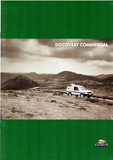 Land Rover Discovery Commercial 1995-96 UK Market Sales Brochure