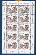 MONACO - Feuille N°2638 Coopération Internationale Santé C Rouge 2008  Neuf Luxe