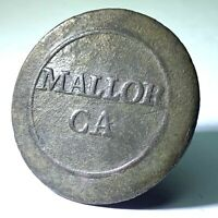 Dug Napoleonic Peninsula War Spanish Mallorca Infantry uniform button CONSERVED