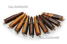 Wholesale 10 pcs Lots Natural Tiger Eye Stone 1.6 inches Bullet Pendants New
