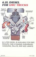 1983 GMC 6.2L Diesel Truck Engine ORIGINAL Factory Postcard my0637