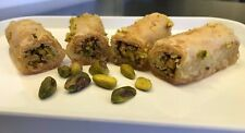 Pistachio Rolled Baklava Traditional Greek Pastry, 7 oz