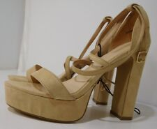 7c9a58ed2bd5 Women's Forever 21 High Heel Platform Sandals 00176354 Nude NEW ONLY ONE