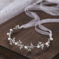 Silber Braut Perle Stirnband Tiara Kopfschmuck Party Hochzeit Haarschmuck Luxus