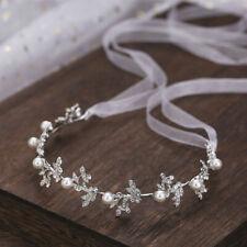 Silber Braut Perle Stirnband Tiaras Kopfschmuck Party Hochzeit Haarschmuck YLW