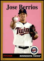 Jose Berrios 2019 Topps Archives 5x7 Gold #46 /10 Twins
