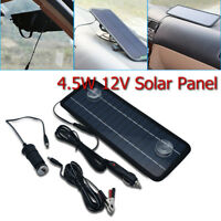 4.5W 12V Car Boat Yacht Solar Panel Trickle Battery Charger Outdoor Power Supply