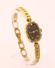 Luch women's ladies mechanical USSR wrist watch. Cal. 1801.1.K1, black dial, 17J