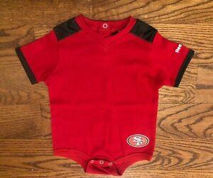 San Francisco 49ers Football Reebok Bodysuit One Piece Size 18 Months