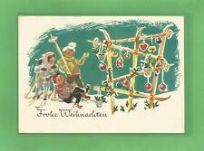 DDR AK Weihnachten Künstlerkarte Schaberschul Kinder mit Ski 1962 Bunkowsky