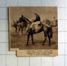 1938 Lord Derby's Snowfall Winner Craven Stakes
