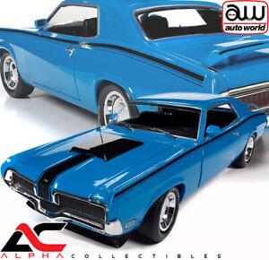 AUTOWORLD AMM1253 1:18 1970 MERCURY COUGAR (MCACN) COMPETITION BLUE