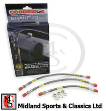 BEK007 - MGB & MGB GT - GOODRIDGE STAINLESS STEEL BRAKE HOSE SET - ABK103