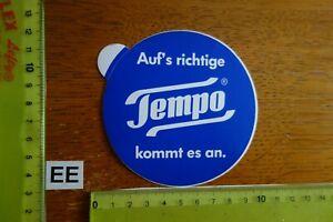Alter Aufkleber Hygiene Parfümerie Kosmetik PapierTaschentücher TEMPO
