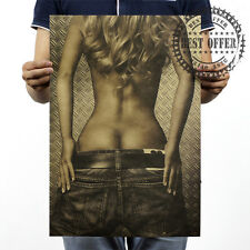 """Poster Vintage Retro Wall Art Home Office Sex Sexy lady girl buttocks Hot 20x14"""""""