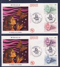 MONACO   enveloppe    expo philatélique  17/11    papillons  1987