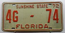 """USA Nummernschild Florida """"SUNSHINE STATE"""" von 1972. 9357."""