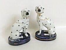 Antique Vintage Staffordshire Spotted Dogs Porcelain Figurines c.1894-1962