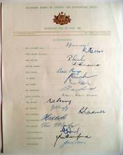 AUSTRALIA TO ENGLAND 1956 ASHES TOUR – OFFICIAL CRICKET AUTOGRAPH SHEET