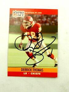 Derrick Thomas Autographed Chiefs 1990 NFL Pro Set Card #536