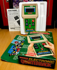 Vintage 1978 Coleco Handheld Electronic Quarterback Football Game Box @ Manual