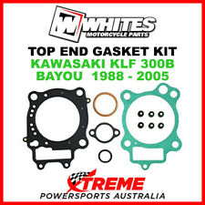 Whites Kawasaki KLF300B KLF 300B Bayou 1988-2005 Top End Rebuild Gasket Kit