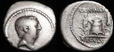 Pièces de monnaie antiques romaines romains argent