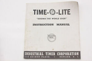 Time-O-Lite Dakroom Timers Instruction Manual Guide Booklet - English USED B216H