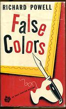 False Colors by Richard Powell-An Inner Sanctum Mystery 1st Edition/DJ-1955