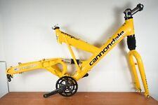 """Mountain Bike Cannondale Super V400 Frame Fork 18"""" Crankset Stem"""