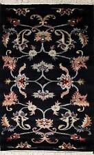 Rugstc 2.5x4 Pak Persian Black Area Rug, Hand-Knotted,Floral with Wool Pile