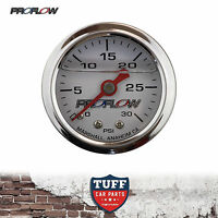 Proflow 0 - 30 PSI Liquid Filled Fuel Pressure Gauge 1/8 NPT PFEFG30LF New