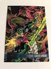 1995 DC Versus Marvel Skybox Trading Cards #74 Green Lantern/Green Goblin