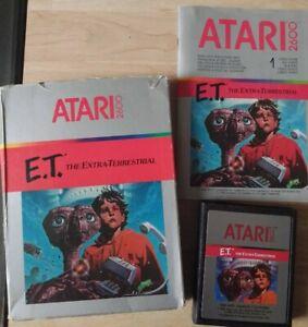 ATARI 2600 E.T. The extra-terrestrial jeu en boite et notice
