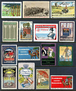Denmark Poster Stamps - Collection of 15 Different         (# 3602)