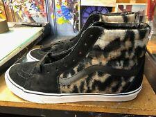 Vans Sk8-Hi Leopard Tiger Black White Tan Wool  Size US 10.5 Men VN0A4BV6TBX New