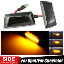 Pair Dynamic LED Side Marker Turn Signal Light For Opel Insignia Chevrolet Cruze