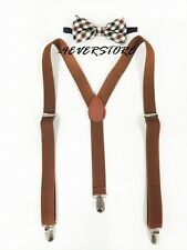 New Vintage Suspender Bow Tie Style for Mens and Women Combo Suspender + BowTie