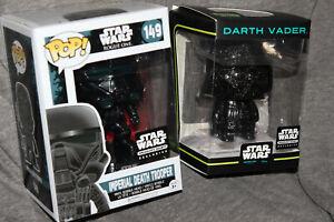 Star Wars Funko Pop Rogue One Smuggler's bounty 149 Death Trooper + Darth Vader