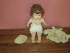 Vintage Composition Doll w/ Reddish Hair and Scarry Eyes Condition Issues