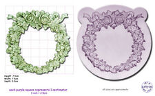 FLORAL WREATH Craft Sugarcraft Resin Sculpey Silicone Mould