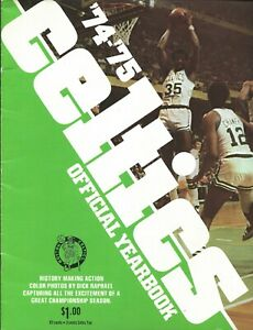 1974-75 Boston Celtics Yearbook & Team Photo NBA Havlicek Cowens Heinsohn White