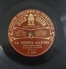 """RARE 78RPM 10"""" FONOTIPIA ODEON LA VEDOVA ALLEGRA FRANZ LEHAR VALZER DELLE SIRENE"""
