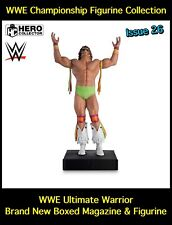 WWE Championship Figurine Collection: Ultimate Warrior Mag & Statue Issue 26 New
