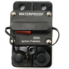 250AMP Marine Circuit Breaker IP67 Waterproof  Panel Mount Reset Fuse Holder