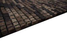 Felt Rug Bricks 160x230 Cm 100 Wool Hand Woven Filzwürfel Brown Black